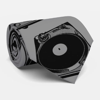 Turntable Graphic Tie