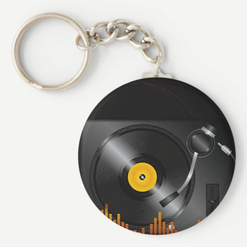 Turntable Keychain