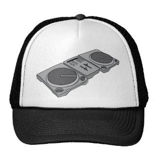 Turntable Phonograph Record Player DJ Trucker Hat