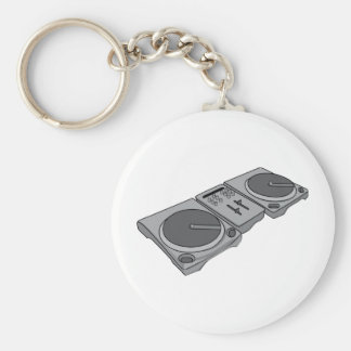 Turntable Phonograph Record Player DJ Keychain