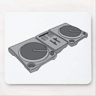 Turntable Phonograph Record Player DJ Mouse Pad