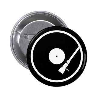 Turntable Pinback Button