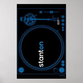 Turntable Poster Stanton - DJ Disc Jockey Vinyl