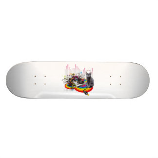 Turntable Pumpin Music Funny Cat Skateboard Deck