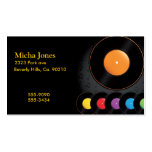 Turntable Records In Vivid Colors Business Cards