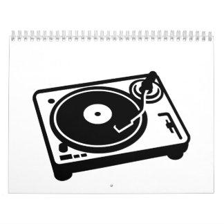 Turntable vinyl calendar