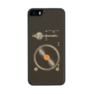 Turntable Vinyl Old School Carved® Maple iPhone 5 Case
