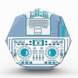 Turntable with Laptop DJ equipment Vector Acrylic Award
