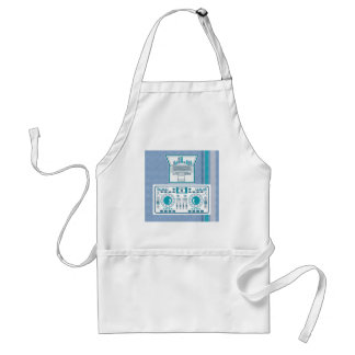 Turntable with Laptop DJ equipment Vector Adult Apron