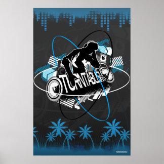 Turntablism DJ Poster Music Turntable Disc Jockey
