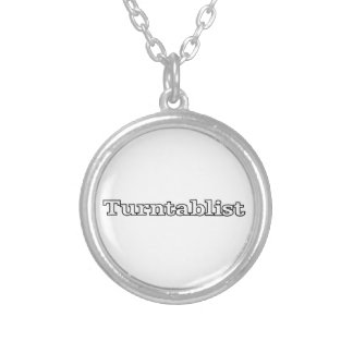 Turntablist Silver Plated Necklace