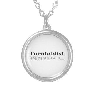 Turntablist ʇsılqɐʇuɹn⊥ silver plated necklace