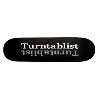 Turntablist ʇsılqɐʇuɹn⊥ skateboard decks