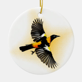 Turpial Double-Sided Ceramic Round Christmas Ornament
