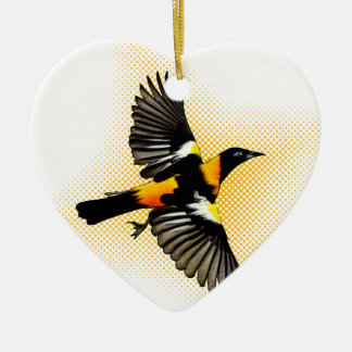 Turpial Double-Sided Heart Ceramic Christmas Ornament
