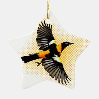 Turpial Double-Sided Star Ceramic Christmas Ornament