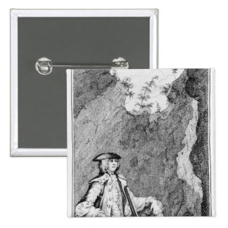 Turpin as he Concealed Himself in a Cave Pinback Button