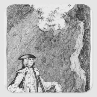 Turpin as he Concealed Himself in a Cave Square Sticker