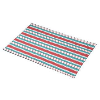 Turq and Red Stripes Placemats