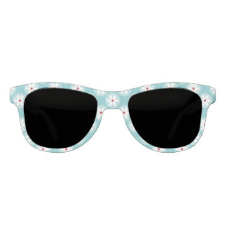 Turqoise and Red Daisy Dot Sunglasses