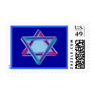 Turqoise Linear Star Stamp
