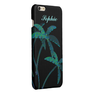 Turqoise Opal Palm Trees Glossy iPhone 6 Plus Case