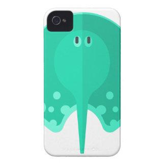 Turqoise Stingray Primitive Style iPhone 4 Case-Mate Case