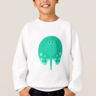 Turqoise Stingray Primitive Style Sweatshirt