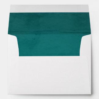 Turqoise Velvet Textured Lining A7 Envelope