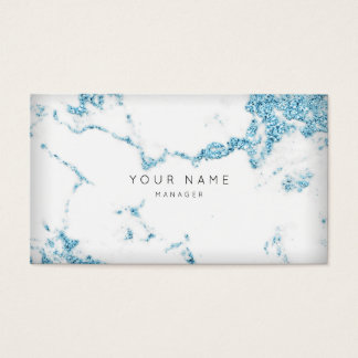 Turqoise White Gray Carrara Marble Appointment Business Card