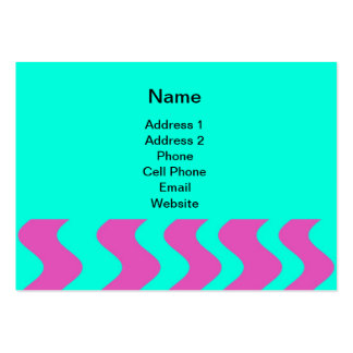 turqouise and pink business card template