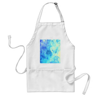 turqouise blue drip paint art by healinglove aprons