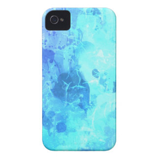 turqouise blue drip paint art by healinglove Case-Mate iPhone 4 cases