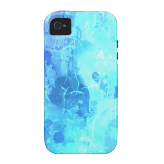turqouise blue drip paint art by healinglove vibe iPhone 4 cases