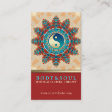 Turqouise Earth YinYang New Age Business Cards