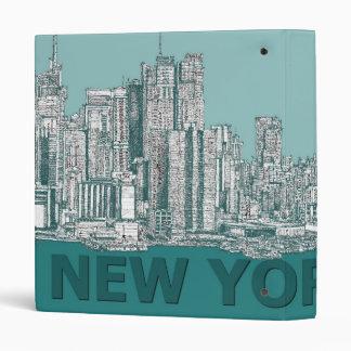 turqouise NYC text Binder