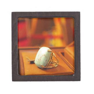 Turqouise Ring Premium Trinket Box