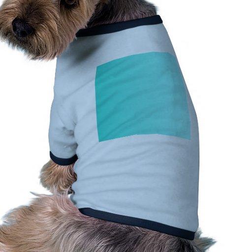 Turquesa a la pendiente de la vertical de Celeste Camiseta Con Mangas Para Perro