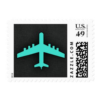 Turquesa; Aeroplano del verde azul Franqueo