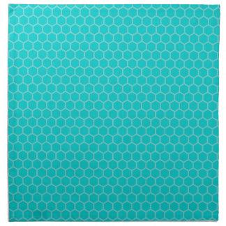 Turquesa, aguamarina, trullo geométrico servilleta de papel