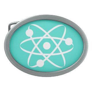 Turquesa, átomo azulverde hebillas de cinturón ovales