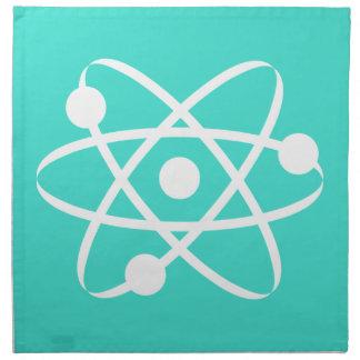 Turquesa, átomo azulverde servilletas imprimidas