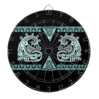 Turquesa azteca del jeroglífico del guerrero de Bl Tablero Dardos