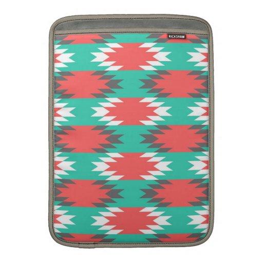 Turquesa azteca del nativo americano y modelo rosa funda macbook air