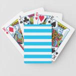 Turquesa azul del trullo y modelo blanco de las ra barajas de cartas