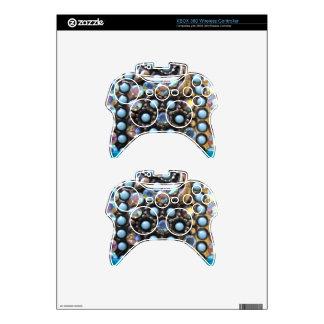 Turquesa azul goteada mando xbox 360 skins