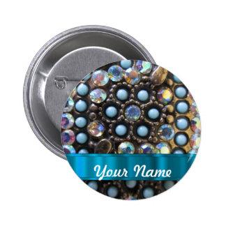 Turquesa azul goteada pin