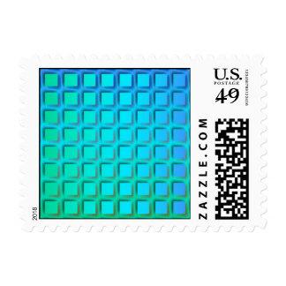 Turquesa azul y modelo verde de los cuadrados