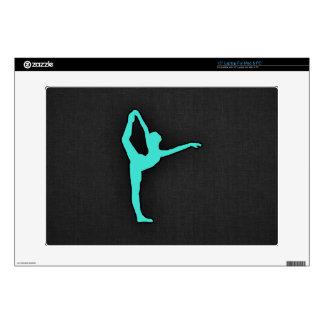 Turquesa; Bailarín de ballet del verde azul Portátil Skin