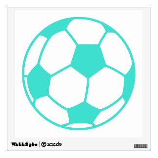 Turquesa; Balón de fútbol de verde azul Vinilo Decorativo